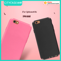 city&case silicon matte mobile phone case for iPhone 6s back cover
