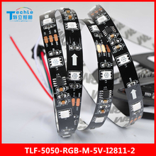 led strip with connector outer addressable 5050 WS2811 Magic lighting 30 led/m Non waterproof black FPC dream color pattern