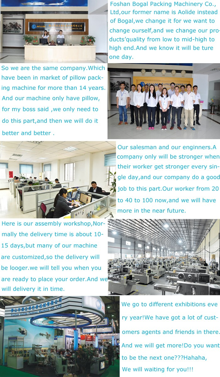 stainless steel pillow cereal bars food packaging laminating machine