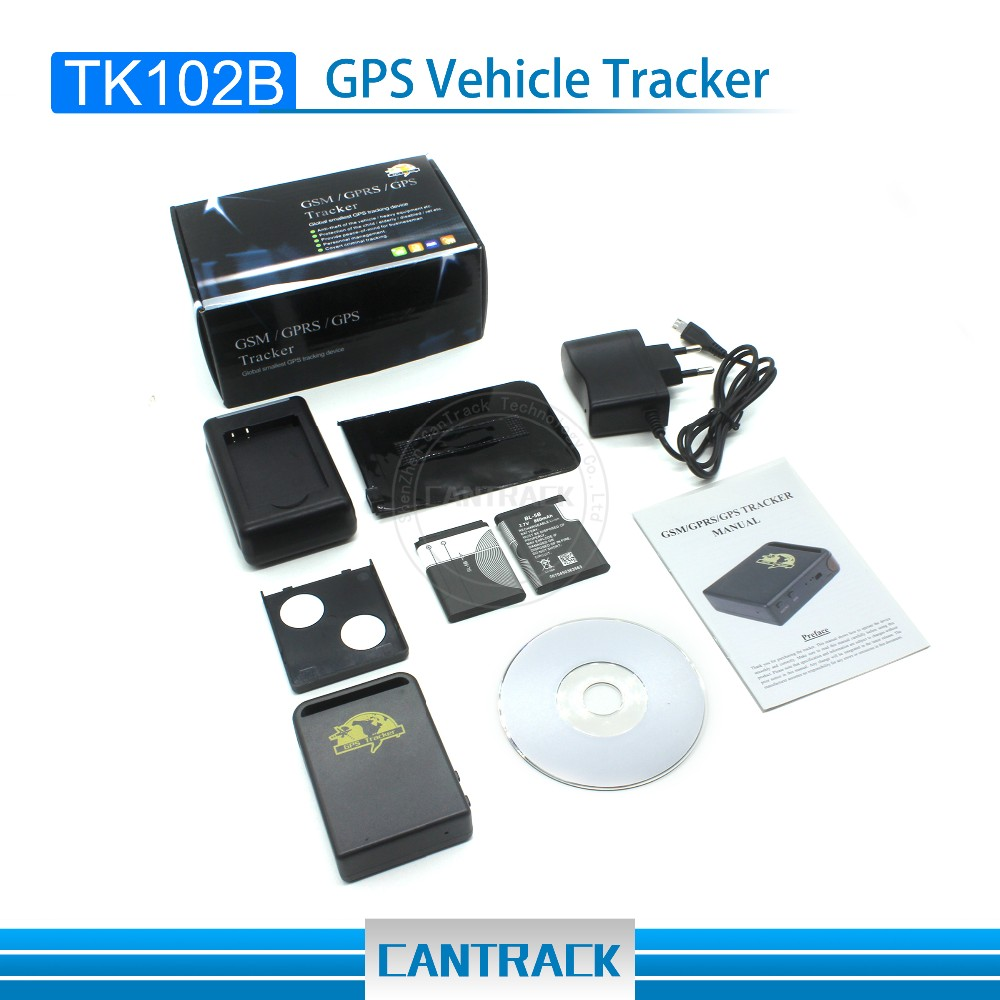 Micro gps tracking device pet gps tracker Small GPS tracking device kids tracker with SOS Remote voice monitoring TK102B