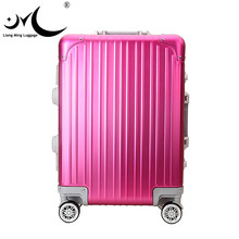 Good Quality PC Hardshell Aluminium Frame Light Laptop Trolley Luggage with TSA Lock