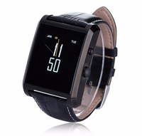 Luxury Leather Bluetooth Smart Watch DM08 For IOS Android Mobile Phone