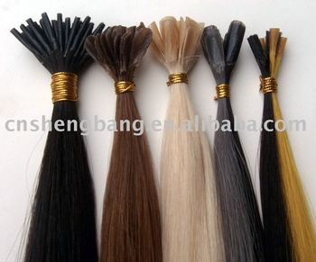 top quality human hair extension ,pre-bonded hair,nail hair extension