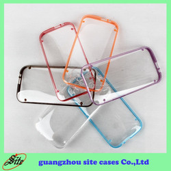 Super Thin clear tpu pc case for HTC M7 M8 M9 816 plastic case with fluorescent design