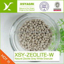 100% Natural Zeolite gray white granule for agricultura soil amendments