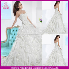 SD946 organza layered skirt wedding dress xxl size alibaba-wedding-dress wedding dress for mature