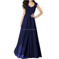 Simple flowing long maxi dress chiffon new style ladies simple fashion abaya dress