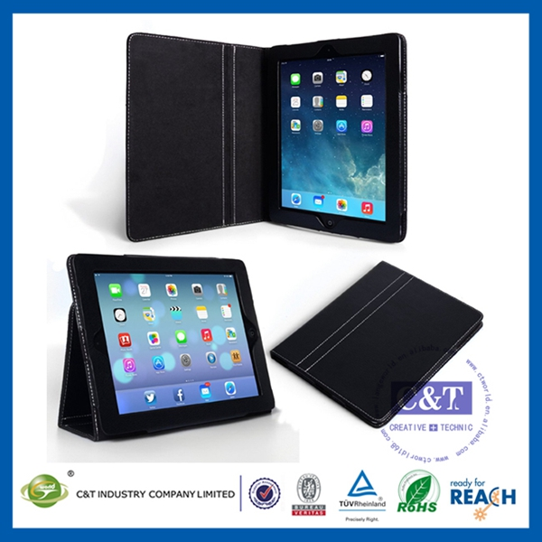 2014 New business section colorful hot selling for ipad cover with pen slot