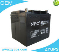 UPS VRLA Battery SMF sealed maintenance free valve regulated lead acid battery 12V38AH (NP38-12)