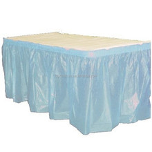Wholesale table skirt for sales/banquet steps in table skirting/tulle table skirt event