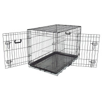 Strong Wire Folding Black Large Dog Cages