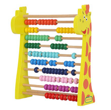 kids EN71 eco-friendly wooden toys mini frame ornaments wood beads abacus soroban abacus counting
