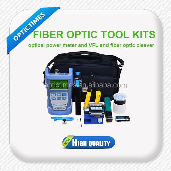 FTTH fiber Fiber Optic cable Splice tool Kits with fiber optic cutting tools/stripper