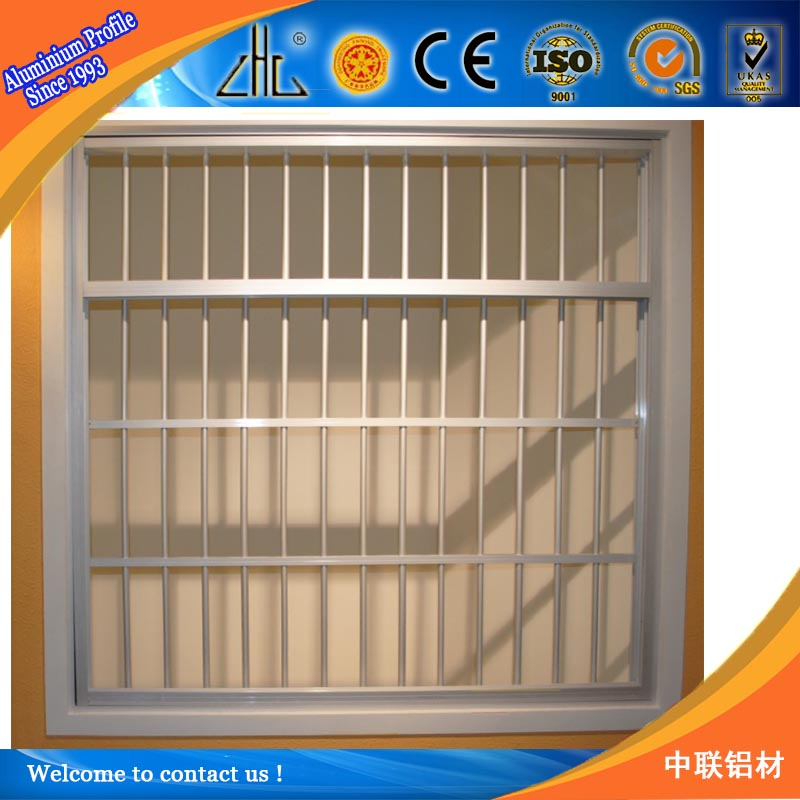 Wrought iron window grill design for safety aluminium for Window grill new design