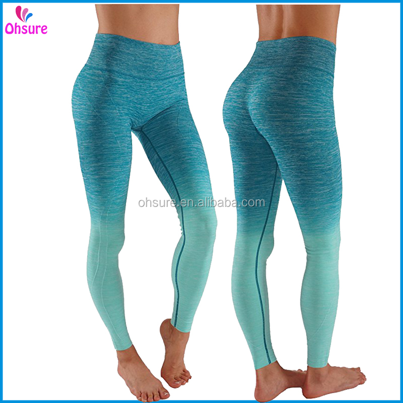 custom made exercise pants sports wear dry fit seamless gym leggings