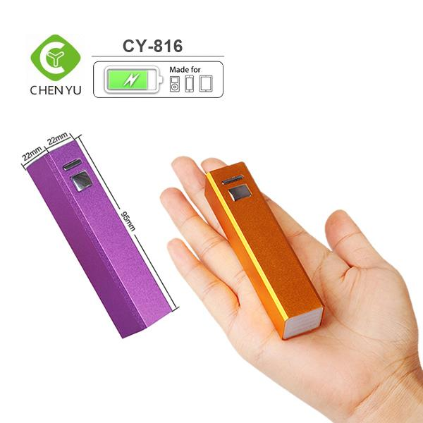 2600mAh Universal lithium ion power bank External Back Up Battery w/ 1000mAh Output, 1.0A Rapid Charge Built-In USB Port
