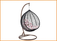 Cheap Round Balcony Rattan Bird Nest Outdoor Swing Egg Hanging Chair Base With Stand