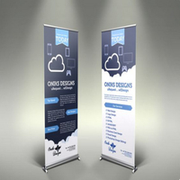Trade show pull up banner, indoor advertising banner