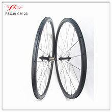 wholesale high quality clincher road carbon full carbon fiber bicycle wheels 30 23, 20 24H UD matte, with Sapim cx-ray spokes
