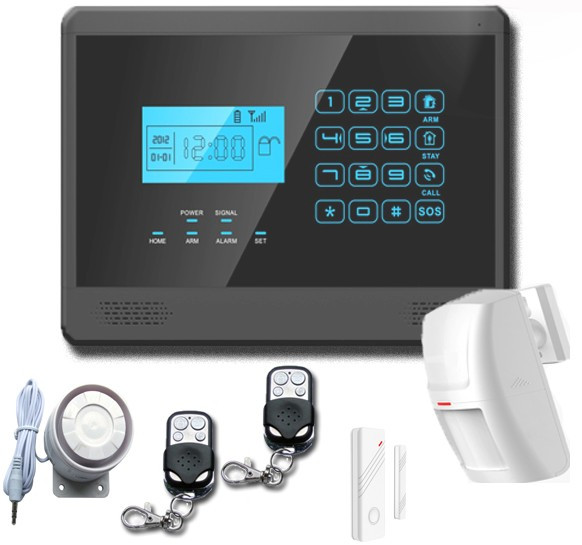 low price App remotely controlled alarm intelligent GSM security system with Touch-keypad