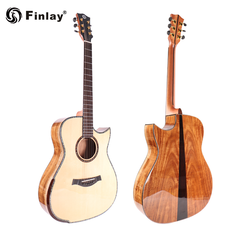 All Solid Wood High Quality Personality Decoration Guitar For Beginner