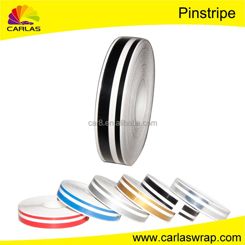 Carlas car stickers pin stripe double line tape decals decoration