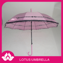 Dots printed straight umbrella , lovely Apollo umbrella for young girls