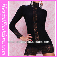 Wholesale High Quality Black Lace Winter Cocktail Party Dresses