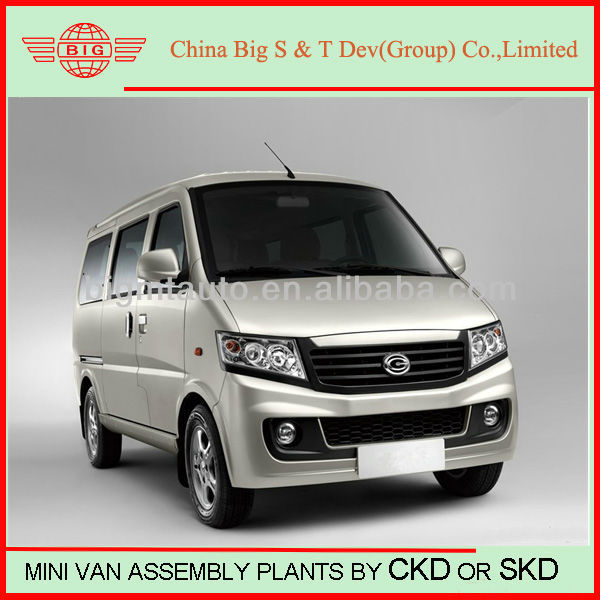 auto assemble plant for mini bus&passenger car &mini van in CKD or SKD