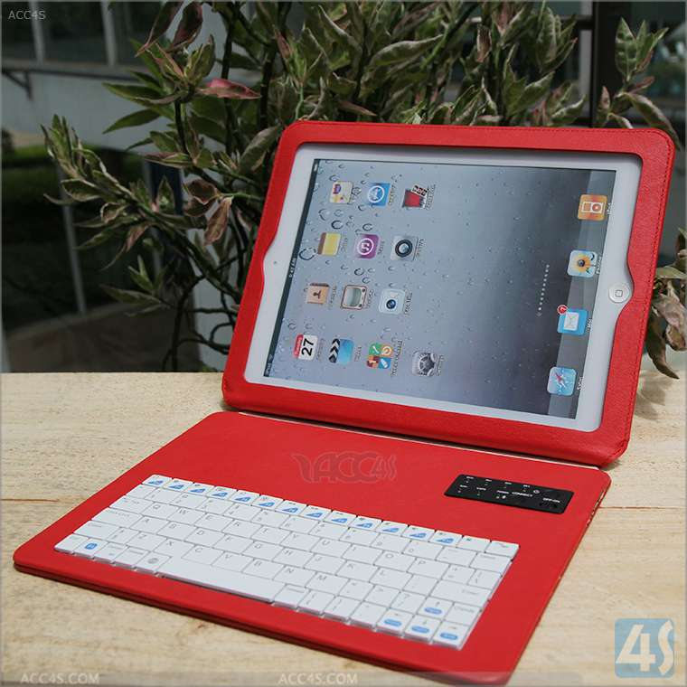 FCC,CE,ROSH Certification Detachable Wireless Bluetooth Keyboard Case for iPad 2 3 4 with 4000mAH Battery P-BLUETOOTHKB032