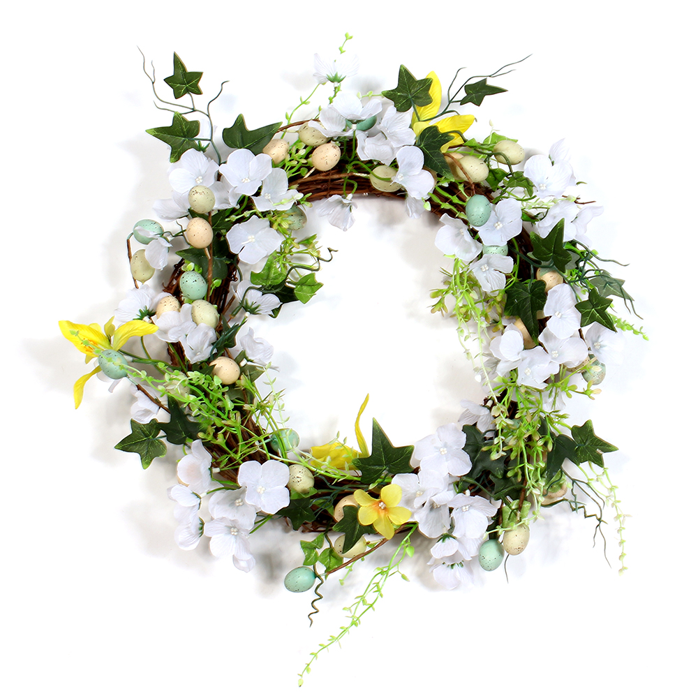 Factory Price Customized Jasmine Artificial Flower Spring Wreath