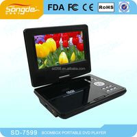 7inch portable DVD Player with TV/FM/GAME/USB/SD/RMVB