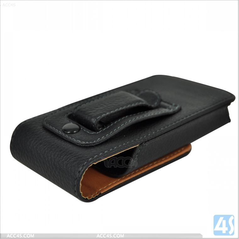 Universal 4 inch mobile phone belt leather case