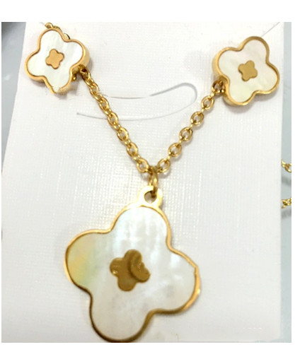 New Stainless Steel Gold Rose Plated Shell Hamesh Hand Charm Pendants  Necklaces Plus Earrings Jewelry Sets