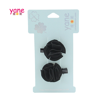 Wholesale black small flower black clip women accessories hair clip set