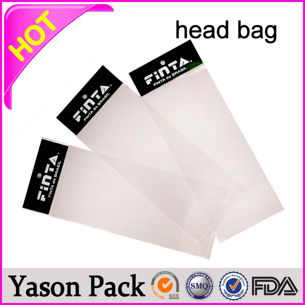 YASON opp header seals bags with hang hole opp header pouches for the socks/decorations opp header pouchs with aluminum foil