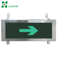LST Led emergency sign light rechargeable green exit sign led exit lamp IP65 exit sign