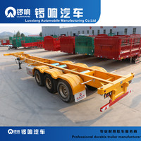 3 Axles 40ft Skeleton Container Semi