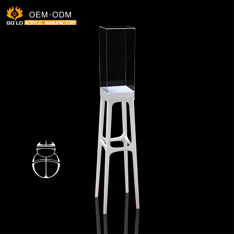 modern fancy design white display pedestal for acrylic