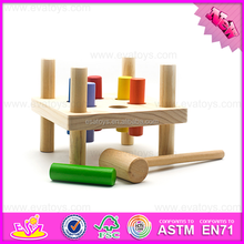 top fashion wooden baby pounding toy for training hand skill W11G027