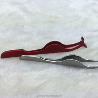 Hot Sale Stainless Steel Tweezers with Bent Nose,Eyebrow Tweezers