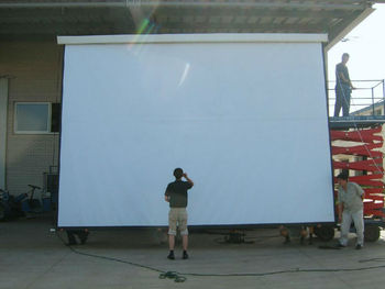 300 inch outdoor projection screen with remote control