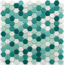 Green mix color fullbody recycle enamel glass mosaic Wall and floor tiles