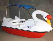 China manufacturer amusement FRP swan water pedal boat for park