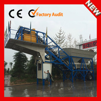 YHZS25 small movable ready mix concrete batching plant for sale
