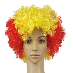 New Rainbow Colored Super Fluffy Unisex Style Afro Clown Wig
