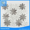 New Home Decor Marble Mixed Stone Tile Mosaic White Marble Tile