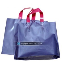 Custom recycle plastic bag plastic tote bags with handles