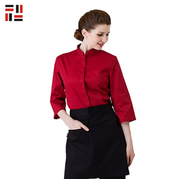 Custom Spandex Polyester Anti- pilling Hotel Staff Uniform For Waiter