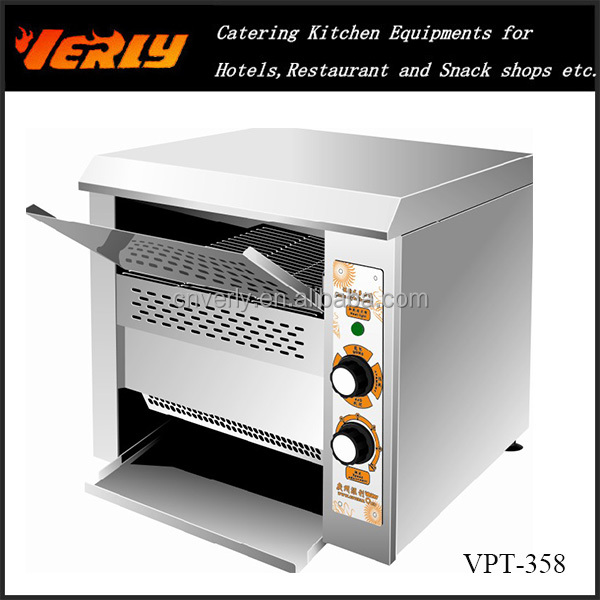 HOT SALE ! Fast Speed Restaurant And Hotel Conveyor Bread Toaster/Toaster And Bread Machine/Grill Bread Toaster VPT-358